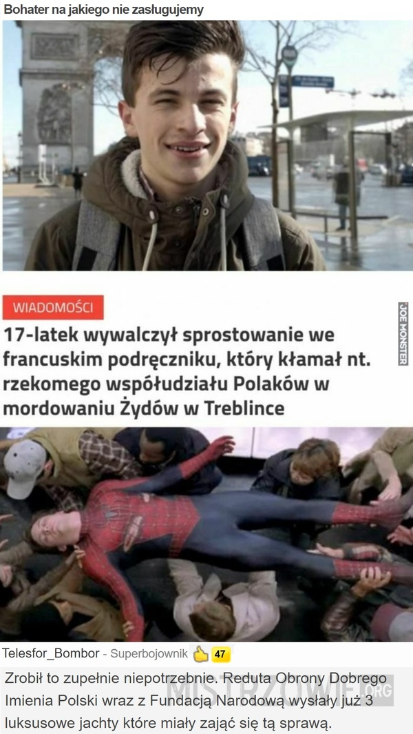 Bohater na jakiego nie zasługujemy –>